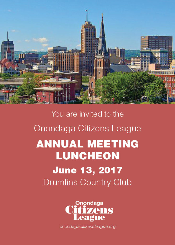 Onondaga Citizens League Annual Luncheon