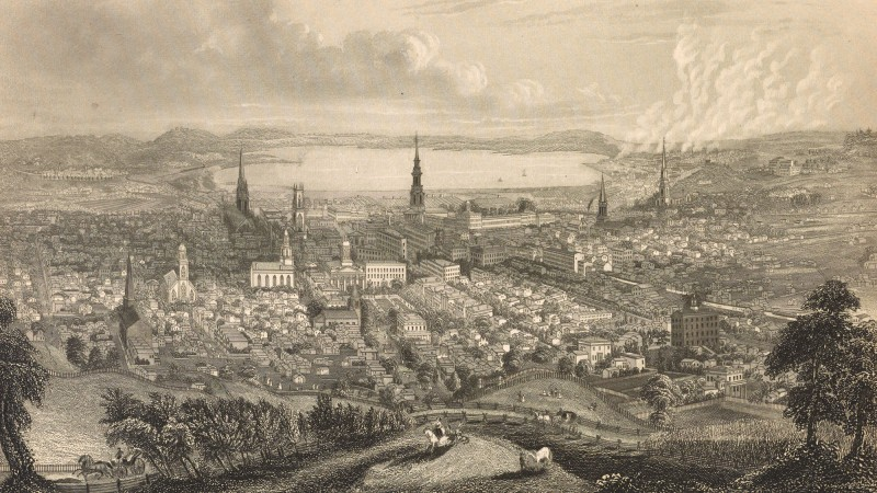 Historical Syracuse Etching