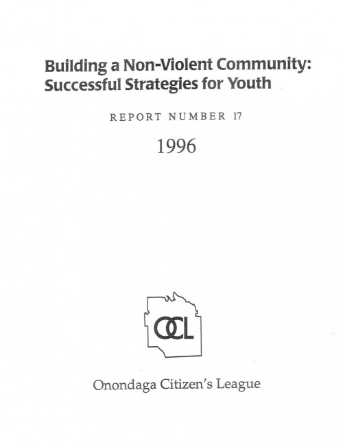 Building A Non-Violent Community: Successful Strategies for Youth